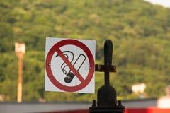 Lieu public non-fumeurs de connexion Images stock