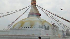 Lieu saint blanc de stupa de Bouddha image libre de droits