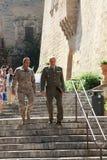 Lieutenant-Colonel and Sublieutenant royalty free stock photo