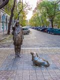 Lieutenant Columbo statue in Budapest Stock Image