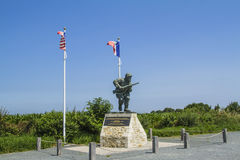 Lieutenant Dick Winters. Of Easy Company in Normandy.Utah Beach Stock Images