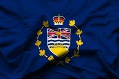 Lieutenant-gouverneur d'illustration réaliste de drapeau de Colombie-Britannique illustration de vecteur