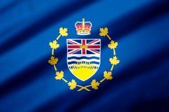 Lieutenant-gouverneur d'illustration réaliste de drapeau de Colombie-Britannique illustration stock