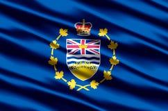 Lieutenant-gouverneur d'illustration réaliste de drapeau de Colombie-Britannique illustration libre de droits