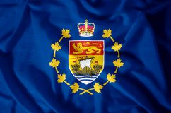 Lieutenant-Governor Of New Brunswick. Stylish waving and closeup flag illustration. Perfect for background or texture purposes vector illustration