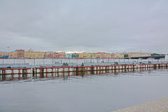 Lieutenant Schmidt Embankment and Neva river in Saint Petersburg, Russia Royalty Free Stock Photos