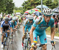 骑自行车者Lieuwe Westra 免版税库存图片
