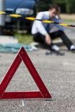 Lieux d'accident de voiture photographie stock libre de droits
