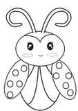 Lieveheersbeestje kleurende pagina Royalty-vrije Stock Afbeeldingen