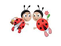 Lieveheersbeestjes, CMYK Royalty-vrije Stock Afbeelding