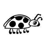 Lieveheersbeestjeschets Royalty-vrije Stock Afbeelding
