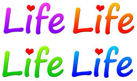 Life. Enjoying and caring about life (colorful icons Stock Photography