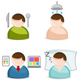 Life Activity Icon Set Royalty Free Stock Photography