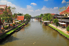 Life along the Sansab canal in Bangkok Thailand Stock Photography