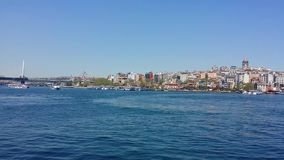 Daily life as time lapse in Golden horn, Istanbul stock video