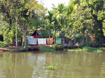 Life on the backwaters of Alleppey stock photos