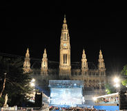 The Life Ball at Vienna City Hall. The Life Ball is Europe\'s largest and most spectacular annual charity event dedicated to raising support for the worldwide Royalty Free Stock Photos