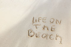 Life on the beach concept Stock Image