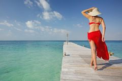 Life is a Beach (Jetty) Royalty Free Stock Images