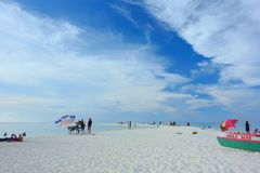 Life on the beach. Life in the Philippines.White beach on the island of Camiguin Stock Images