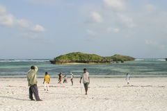 Life on the beach. A scene of life in Kenya Stock Photo