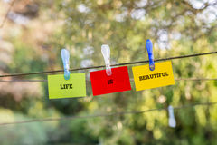 Life Is Beautiful concept Royalty Free Stock Images
