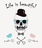 Life is Beautiful Funny Vector Illustration Royalty Free Stock Image