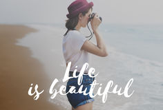 Life is Beautiful Happiness Lifestyle Experience Concept Stock Image