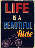 Life is a beautiful ride retro poster Stock Photos