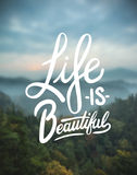 Life is beautiful vector Stock Images