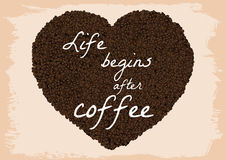 Life begins after coffee Stock Photos