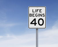 Life Begins at Forty Stock Image
