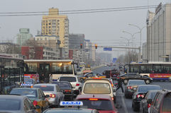 Daily Life - Beijing Rush Hour Royalty Free Stock Images