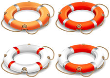 Life belt. Vector illustration - rescue life belt icons Stock Images