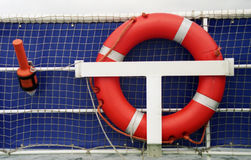 Life-belt. A life belt with a water light, photographed on a ship Royalty Free Stock Images
