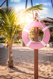Life belt on the beach. Life belt on caribbean beach in Dominican Republic Stock Photography