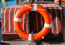Life belt on a boat Royalty Free Stock Images
