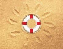 Life Belt. Buoy Life Protection White Background Nautical Vessel royalty free stock photo