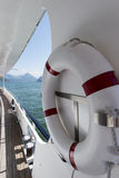 Life belt on a passenger ship Stock Images