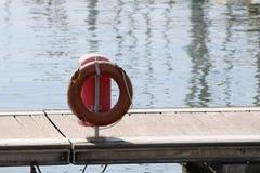 Life Belt. @ River Boat Station stock photo
