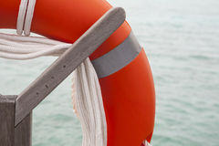 Life belt at the sea Royalty Free Stock Photography