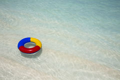 Life belt in the sea Royalty Free Stock Photo