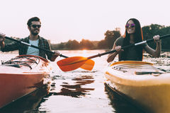 Life is better on the river. stock photos