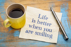 Life is better when you are smiling Royalty Free Stock Photo