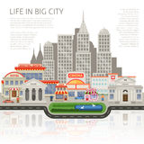 Life In Big City Design Stock Images