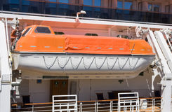 Life Boat. A life boat on a large ship Royalty Free Stock Image