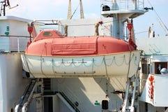 Life boat. Rescue boat of large passenger ship Royalty Free Stock Image