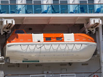 Life boat. On the big cruise ship Royalty Free Stock Photography