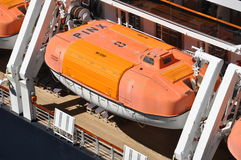 Life boat. Tender boat onboard Holland America Cruise Ship Royalty Free Stock Photos