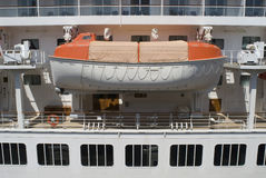 Life boat. A cruise ship lifeboat, concept of a safe haven or a backup plan Royalty Free Stock Photography